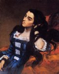 spanish art - portrait of a spanish lady by gustave courbet