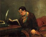 gustave courbet portrait of baudelaire painting-32774