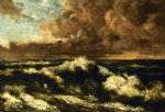 sea watercolor paintings - seascape by gustave courbet