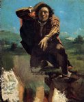 the desperate man by gustave courbet acrylic paintings