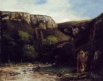 gustave courbet watercolor paintings - the gorge by gustave courbet