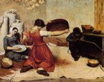 the grain sifters by gustave courbet acrylic paintings