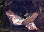 the hammock by gustave courbet acrylic paintings