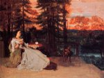 gustave courbet the lady of frankfurt painting 32809