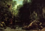 gustave courbet watercolor paintings - the shaded stream by gustave courbet