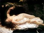 woman with a parrot by gustave courbet acrylic paintings