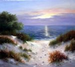 dune in evening by heinz scholnhammer painting
