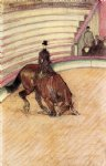 henri de toulouse lautrec at the circus dressage painting