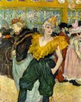 henri de toulouse lautrec at the moulin rouge the clowness cha painting