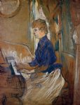 henri de toulouse lautrec at the piano painting