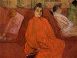 henri de toulouse lautrec at the salon the divan painting