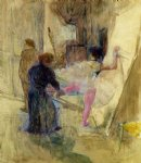henri de toulouse lautrec behind the scenes painting
