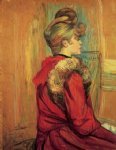 henri de toulouse lautrec girl in aa fur mademoiselle jeanne fontaine painting