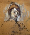 henri de toulouse lautrec head of a woman painting