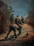 henri de toulouse lautrec horse and rider with a little dog painting 32558