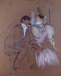 henri de toulouse lautrec lucien guitry and granne granier painting