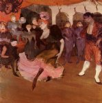 henri de toulouse lautrec marcelle lender dancing in the bolero in chilperic painting