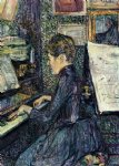 henri de toulouse lautrec mille. dihau playing the piano paintings