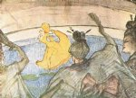 ballet original paintings - the ballet papa chrysanthemem by henri de toulouse lautrec