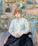 henri de toulouse lautrec the redhead with a white blouse posters