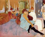 henri de toulouse lautrec the salon in the rue des moulins ii painting