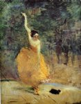 spanish art - the spanish dancer by henri de toulouse lautrec