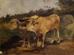 henri de toulouse lautrec two bulls wearing a yoke painting