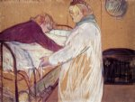 henri de toulouse lautrec two women making the bed painting