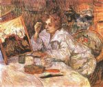 henri de toulouse lautrec woman at her toilette ii painting