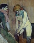 henri de toulouse lautrec woman pulling up her stockings painting