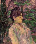 henri de toulouse lautrec woman seated in a garden painting