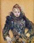 henri de toulouse lautrec woman with a black boa paintings