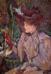 henri de toulouse lautrec woman with gloves painting