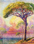 henri edmond cross art - a pine tree by henri edmond cross