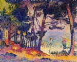 henri edmond cross art - a pine wood provence by henri edmond cross