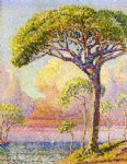henri edmond cross art - a pine by henri edmond cross