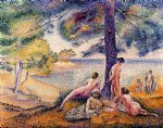 henri edmond cross art - a place in the shade by henri edmond cross