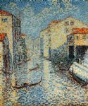 a venetian canal by henri edmond cross painting