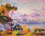 antibes afternoon by henri edmond cross painting