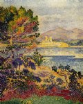 henri edmond cross art - antibes morning by henri edmond cross