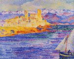 henri edmond cross art - antibes by henri edmond cross