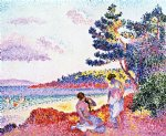 henri edmond cross art - bathers iii by henri edmond cross