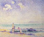 bathers by henri edmond cross painting