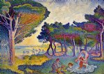 henri edmond cross art - by the mediterranean by henri edmond cross