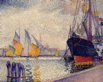 henri edmond cross art - canal de la guidecca venice by henri edmond cross