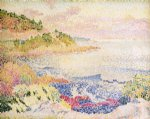 henri edmond cross art - coast of provence le four des maures by henri edmond cross