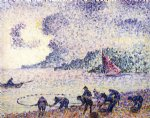 fisherman by henri edmond cross painting