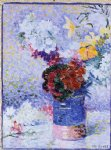 henri edmond cross flowers in a glass painting