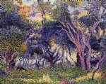 henri edmond cross in the woods poster