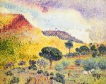 henri edmond cross la chaine des maures painting